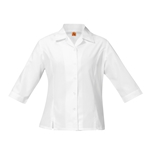 Blouses-3/4 Fitted-White