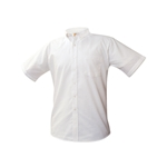 Oxford Dress Shirt-White Embroidered